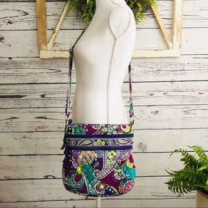 Vera Bradley Iconic Triple Zip Hipster in Heather